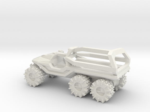 ATV 1 to 144 6x6 solid Open Top ROPS on back in White Natural Versatile Plastic
