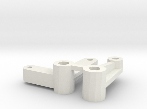 losi jrx pro servo saver and idler arm in White Natural Versatile Plastic