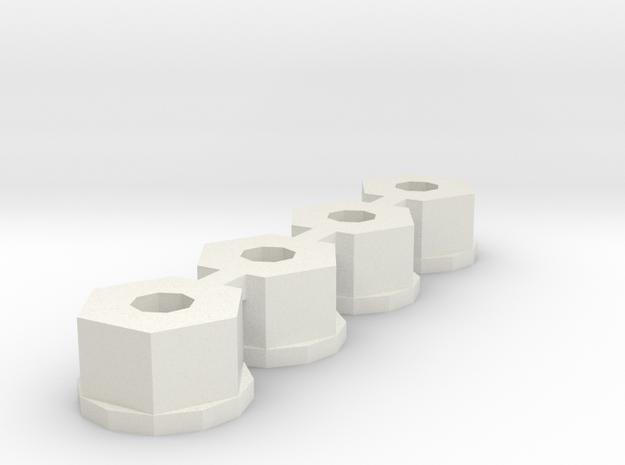 losi 10-32 nylon nut in White Natural Versatile Plastic