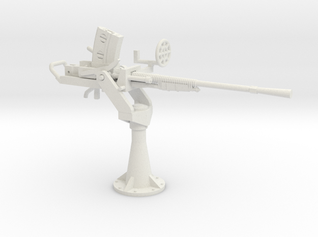 1/48 IJN Type 96 25mm Single Mount in White Natural Versatile Plastic