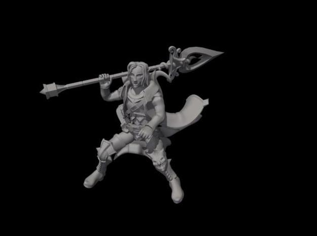 Void Elf King in riding pose 1 3d printed