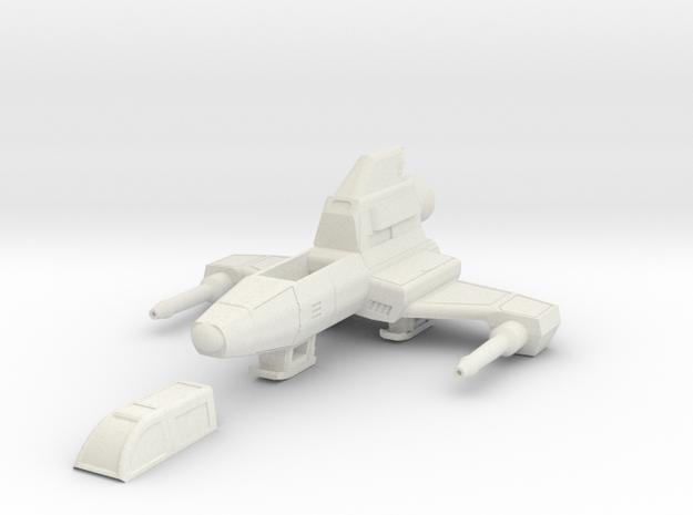 Snubby 1/48 scale in White Natural Versatile Plastic