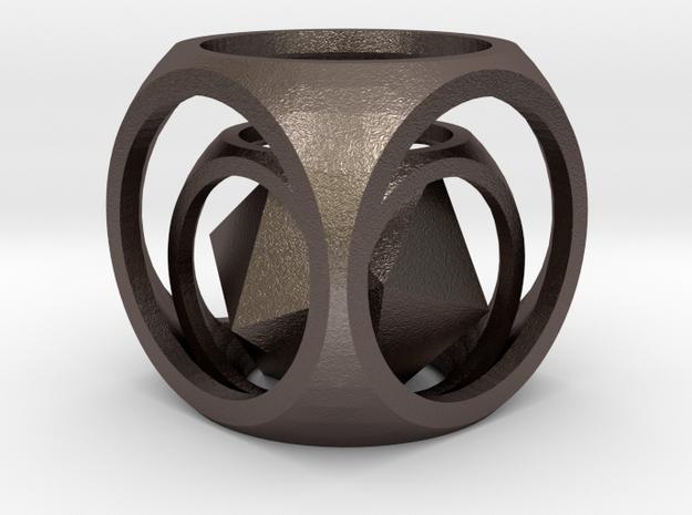 Captive Icosahedron Pendant