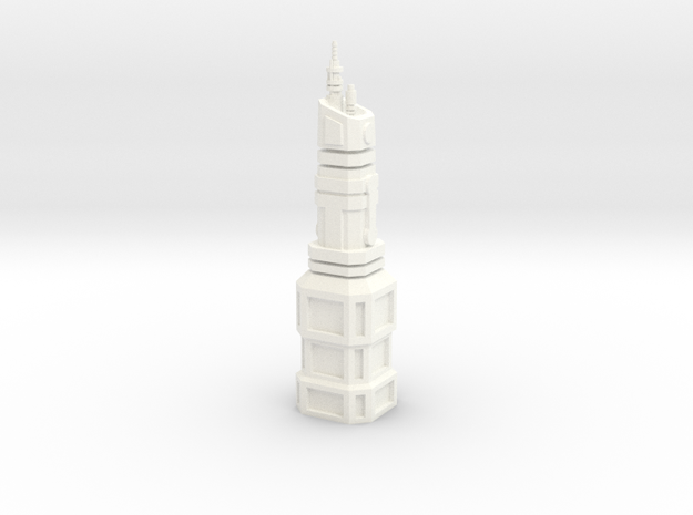Federation Building in White Processed Versatile Plastic