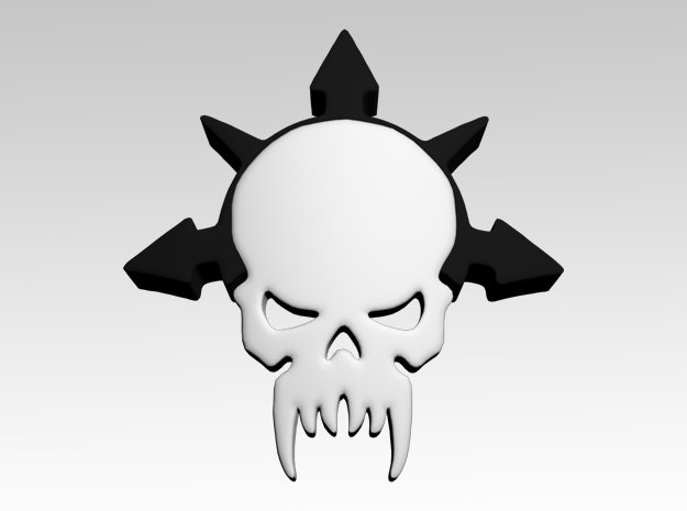 Skull & Star 4 Shoulder Icons x50 in Smooth Fine Detail Plastic