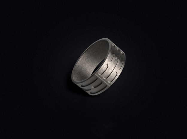 Imperial Wall Pattern Ring in Stainless Steel