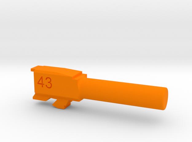Training Barrel for G43 in Orange Processed Versatile Plastic