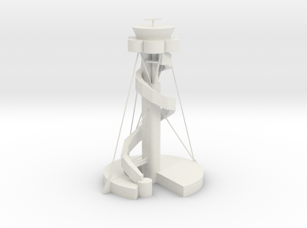 Sidney Airport Tower in White Natural Versatile Plastic: 1:400