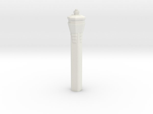 Miami International Airport Tower in White Natural Versatile Plastic: 1:400