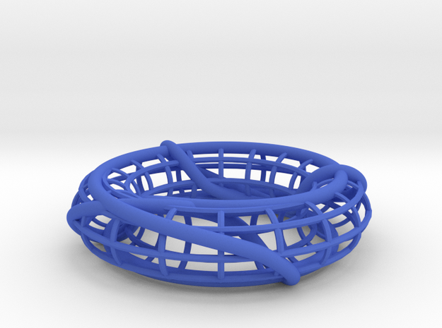 Prime Link 8^2_4 on a Torus in Blue Processed Versatile Plastic