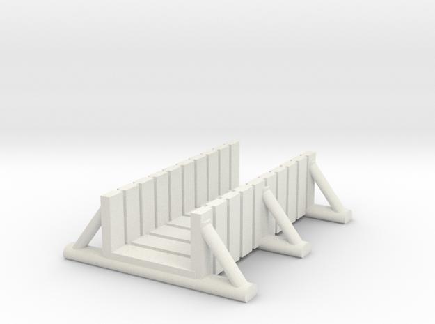 foot bridge 5cm low in White Natural Versatile Plastic