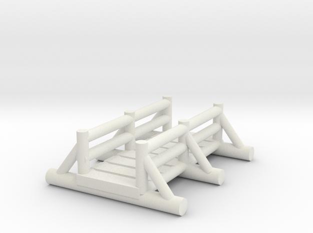 small foot bridge 4cm 2 in White Natural Versatile Plastic