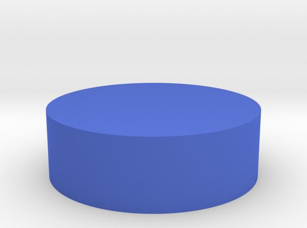 Solid Box - Kennedy Half Dollar in Blue Processed Versatile Plastic