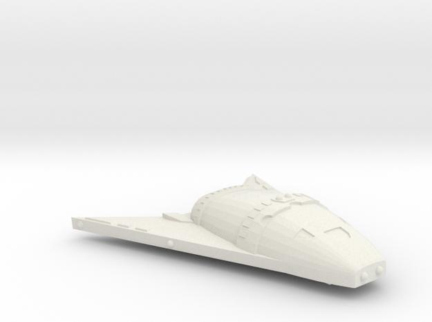 3788 Scale Hydran Buffalo Hunter War Destroyer CVN in White Natural Versatile Plastic