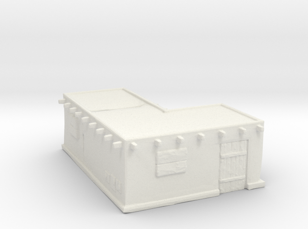 Corner-lot house B  in White Natural Versatile Plastic