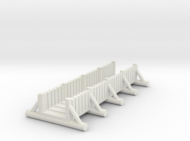 small foot bridge    planked long in White Natural Versatile Plastic