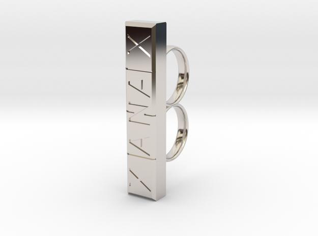XANAX in Rhodium Plated Brass