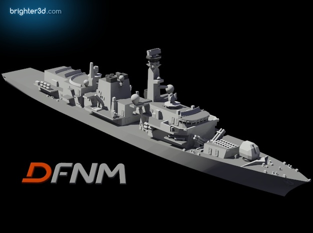 Type 23 Frigate in White Natural Versatile Plastic: 1:700