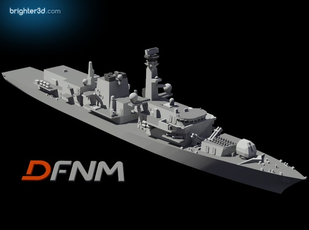 Type 23 Frigate (Sea Ceptor) in White Natural Versatile Plastic: 1:700