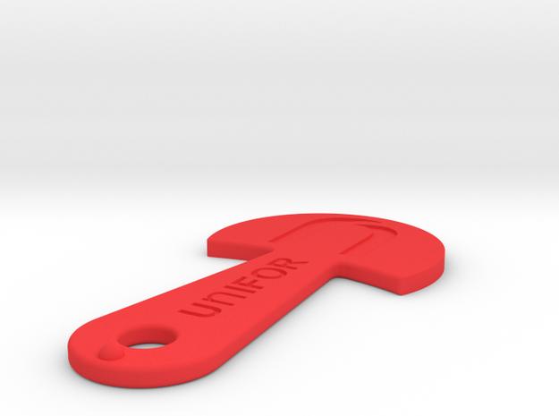 Cart Key - UNIFOR - Recessed Letters in Red Processed Versatile Plastic