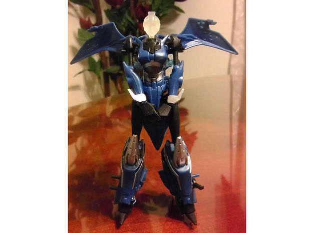 ARIEL homage Cyrene Head for RID Arcee 3d printed Cyrene head on Deluxe TF Prime Arcee