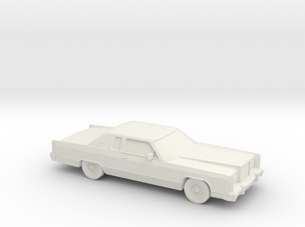 1/76 1978 Lincoln Continental Coupe in White Natural Versatile Plastic