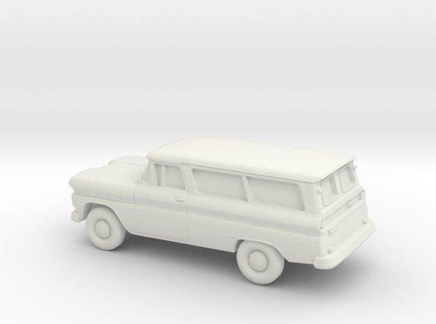 1/76 1960-61 Chevrolet Suburban Split Doors in White Natural Versatile Plastic