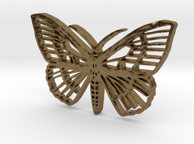 Tropical butterfly in Natural Bronze