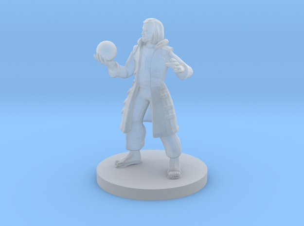 Human Male Warlock in Smooth Fine Detail Plastic