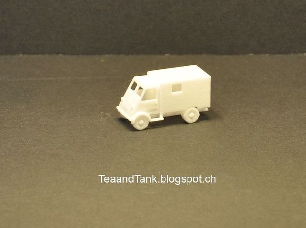 1/120 Peugeot DMA Ambulance TT scale in White Natural Versatile Plastic