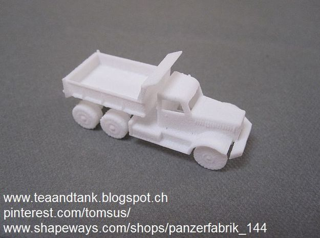 1/120 Diamond Dump Truck in White Natural Versatile Plastic