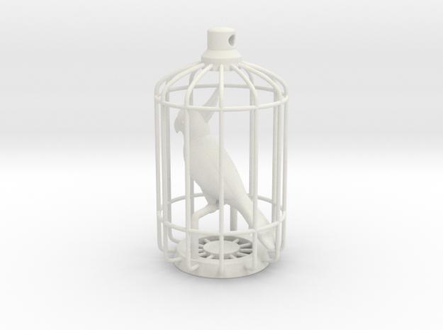 Parrot Charm in White Natural Versatile Plastic