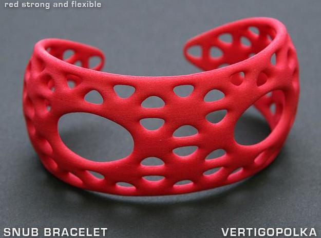Snub Bracelet in Red Strong & Flexible Polished