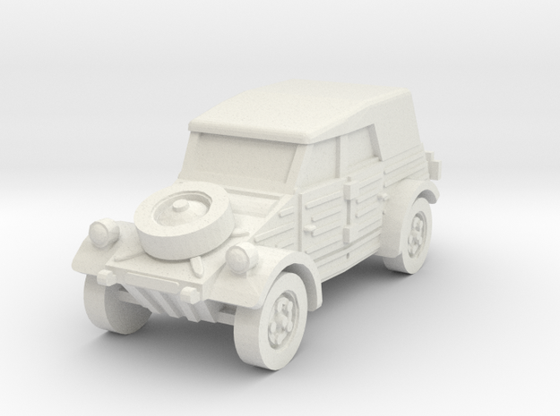 kubelwagen scale 1/87 in White Natural Versatile Plastic