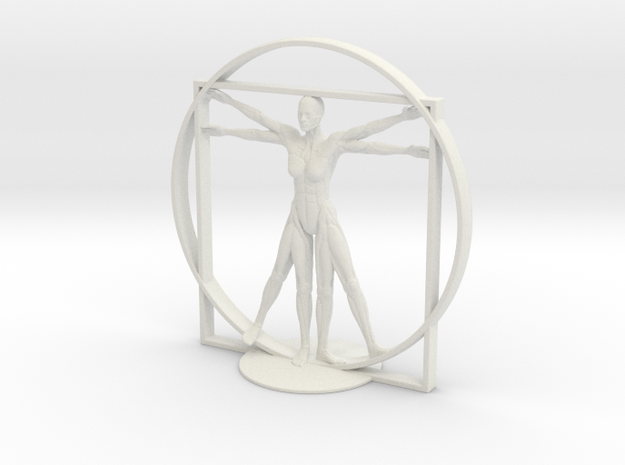 Vitruvian Robotic Woman
