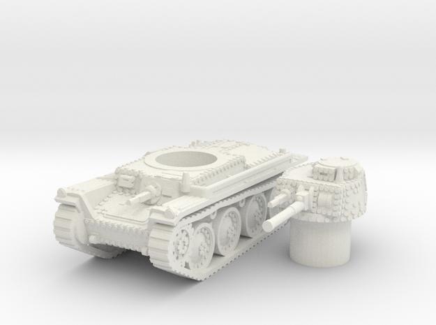 panzer 38t A scale 1/87 in White Natural Versatile Plastic