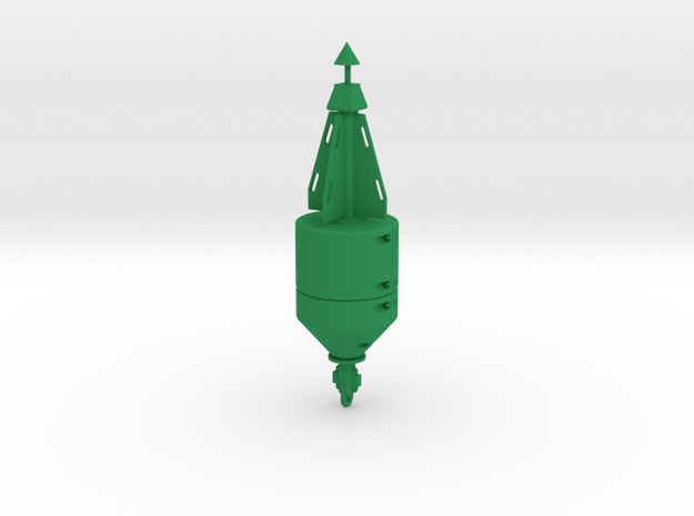 Navigation Buoy green  in Green Processed Versatile Plastic