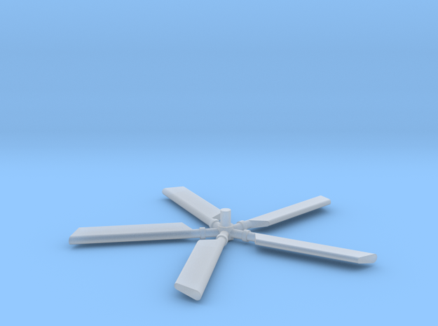 HH3-144scale-06-TailRotor with Blades in Smooth Fine Detail Plastic