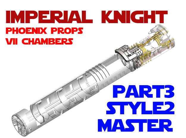 Imperial Knight - Master Part3 Style2 in White Natural Versatile Plastic