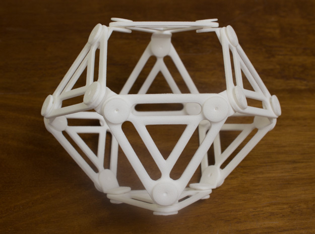 Jointed Jitterbug a.k.a Cuboctahedron a.k.a Vector 3d printed Expanded 1
