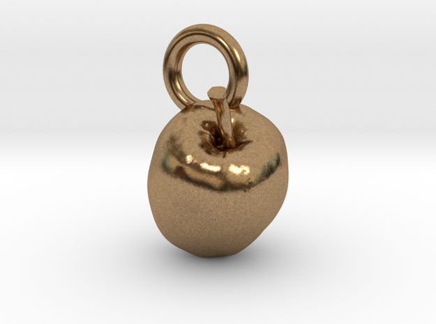 Apple, charms, pendants in Natural Brass
