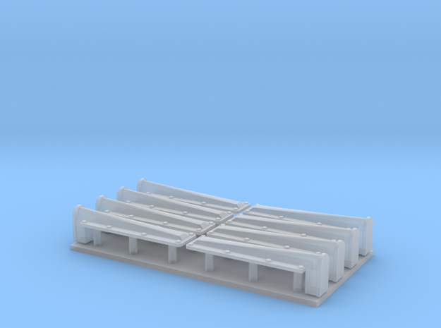 1:35 Stug III stamped fender supports in Smooth Fine Detail Plastic