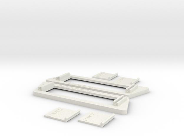 1984-1989 Dodge Daytona Door Handle Bezels in White Natural Versatile Plastic