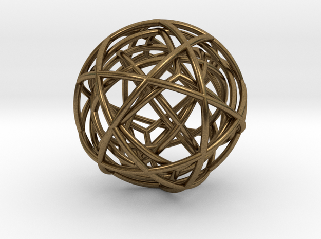 pendant platon - interlocked in Natural Bronze (Interlocking Parts)