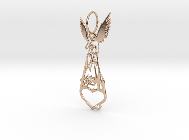Katy Perry Fan Pendant in 14k Rose Gold Plated Brass