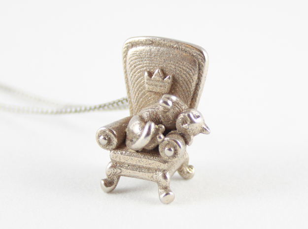 A Royal Catnap in Polished Bronzed Silver Steel