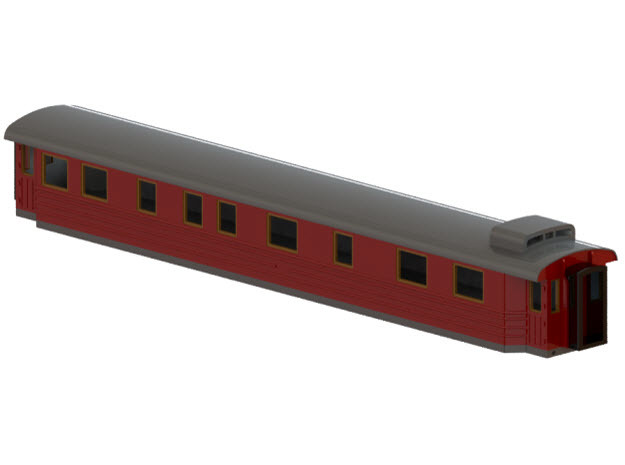 Bo7 - Swedish passenger wagon in Smooth Fine Detail Plastic