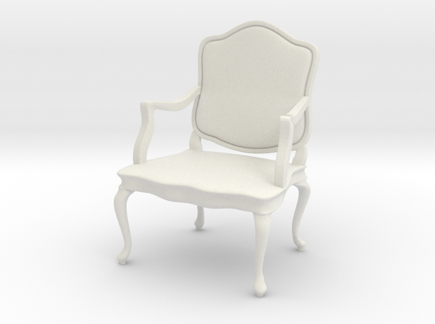 1:24 French Chair 10 in White Natural Versatile Plastic