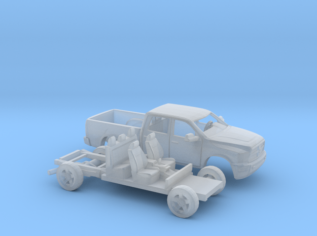 1/180  2013 Dodge Ram Crew Cab Kit in Smooth Fine Detail Plastic
