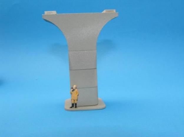 HO/1:87 Precast concrete bridge column set (small) in White Natural Versatile Plastic